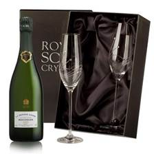Buy & Send Bollinger Grande Annee 2007 with Swarovski Crystal Flutes
