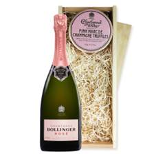Buy & Send Bollinger Rose NV 75cl And Pink Marc de Charbonnel Chocolates Box