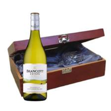 Buy & Send Brancott Estate New Zealand Sauvignon Blanc In Luxury Box With Royal Scot Wine Glass