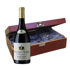 Buy & Send Castelbeaux Pinot Noir In Luxury Box With Royal Scot Wine Glass