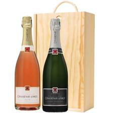 Buy & Send Chassenay d'Arce Brut and Rose In Wooden Box Gift