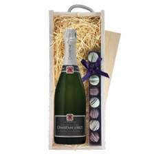 Buy & Send Chassenay dArce Cuvee Premiere Brut & Truffles, Wooden Box
