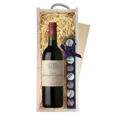 Buy & Send Chateau Tour Haut Vignoble Bordeaux - St Estephe - France & Truffles, Wooden Box