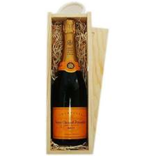 Buy & Send Veuve Clicquot Yellow Label In Wooden Sliding Lid Gift Box