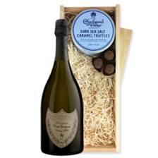 Buy & Send Dom Perignon Cuvee Prestige 2008 And Dark Sea Salt Charbonnel Chocolates Box