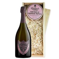Buy & Send Dom Perignon Vintage Rose 75cl 2005 And Pink Marc de Charbonnel Chocolates Box