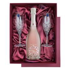 Buy & Send Drusian Spumante Rose Mari in Blue Luxury Presentation Set With Flutes