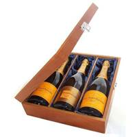 Buy & Send 2 x Veuve NV and 1 x Veuve Vintage Treble Luxury Gift Boxed Champagne