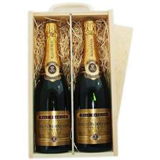 Buy & Send 2 x Louis Roederer Brut Double Wooden Gift Boxed Champagne