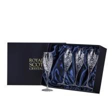Buy & Send Royal Scot Crystal - Edinburgh - 4 Champagne Flutes (Presentation Boxed)