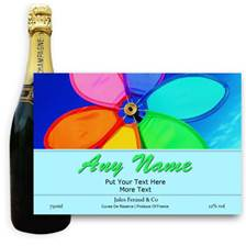 Buy & Send Jules Feraud Brut With Personalised Champagne Label Rainbow flower