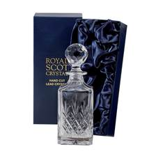 Buy & Send Royal Scot Crystal - Edinburgh Square Spirit Decanter (Presentation Boxed)