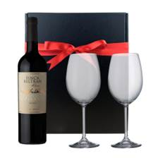 Buy & Send Finca Beltran Oak Aged Malbec And Bohemia Glasses In A Gift Box