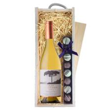 Buy & Send Gran Araucaria Chardonnay Reserva - Chile & Truffles, Wooden Box