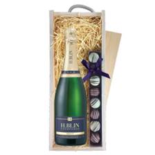 Buy & Send H.Blin Brut Champagne 75cl & Truffles, Wooden Box