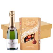 Buy & Send Half Bottle of Jules Feraud Champagne 37.5cl And Chocolates In Gift Hamper