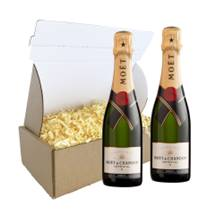 Buy & Send Half Bottle Of Moet and Chandon Brut Champagne 37.5cl Duo Gift Carton