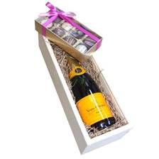 Buy & Send Half Bottle Veuve Clicquot and Truffles in Wooden Box Gift Set