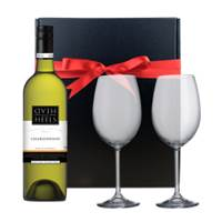 Buy & Send Head over Heels Chardonnay - Australia And Bohemia Glasses In A Gift Box