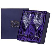 Buy & Send 2 Royal Scot Crystal Wine Glasses - Highland - PRESENTATION BOXED