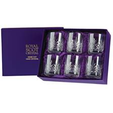 Buy & Send 6 Royal Scot Crystal Whisky Tumblers - Highland - PRESENTATION BOXED