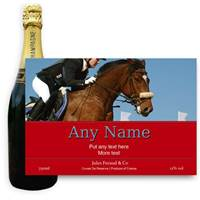 Buy & Send Jules Feraud Brut With Personalised Champagne Label Show Jumping