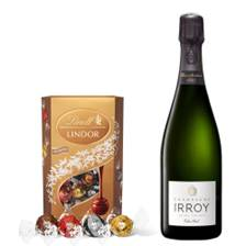 Buy & Send Irroy Extra Brut Champagne 75cl With Lindt Lindor Assorted Truffles 200g