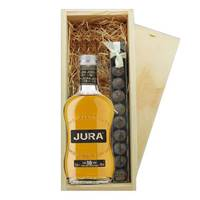 Buy & Send Isle of Jura 10 & Truffles Wooden Box