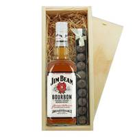 Buy & Send Jim Beam White & Truffles Wooden Box