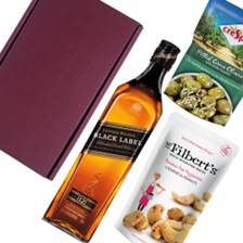 Buy & Send Johnnie Walker Black Label Whisky Nibbles Hamper