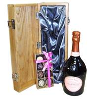 Buy & Send Laurent Perrier Rose & Truffles luxury Wooden Box