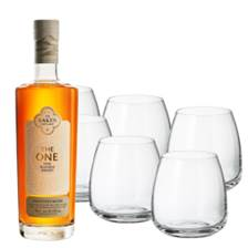 Buy & Send Lakes The One Signature Blended Whisky 70cl with Six Bohemia Anser Tumblers
