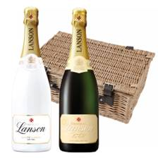 Buy & Send Lanson Demi Sec & Lanson White label Sec Twin Hamper (2x75cl)