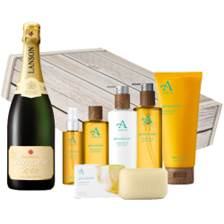 Buy & Send Lanson Demi-Sec Champagne 75cl And Glenashdale Aromatherapy Gift Box