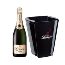 Buy & Send Lanson Gold Label Vintage 2008 Champagne 75cl And Branded Ice Bucket Set
