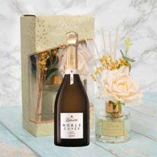 Buy & Send Lanson Noble Cuvee Brut Vintage 2002 With Magnolia & Mulberry Desire Floral Diffuser
