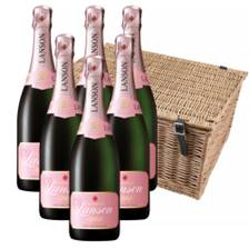 Buy & Send Lanson Rose Label Champagne 75cl Case of 6 Hamper