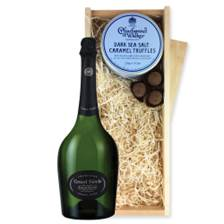 Buy & Send Laurent Perrier Grand Siecle Champagne 75cl And Dark Sea Salt Charbonnel Chocolates Box