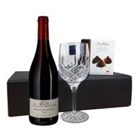 Buy & Send Les Violettes Cotes du Rhone - France, Flute And Chocolate Gift box