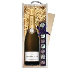 Buy & Send Louis Roederer Carte Blanche & Truffles Wooden Box