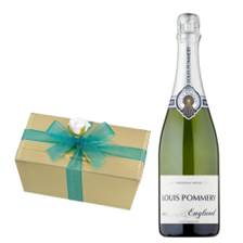 Buy & Send Louis Pommery 75cl Brut England With Selection Of Milk, White And Dark Belgian Chocolates 460g