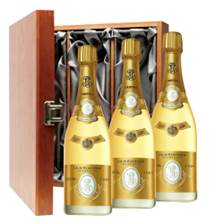 Buy & Send Louis Roederer Cristal Cuvee Prestige 2008 Treble Luxury Gift Boxed Champagne