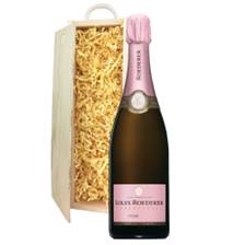 Buy & Send Louis Roederer Vintage Rose 2014 75cl In Wooden Sliding Lid Gift Box