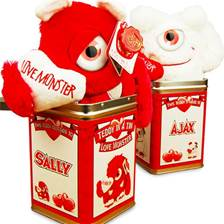 Buy & Send Teddy Tins - Love Monster Red