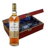 Buy & Send Macallan Gold Whisky In Luxury Box With Royal Scot Glass