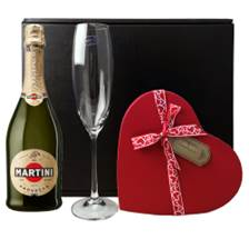 Buy & Send Martini Prosecco DOC NV 75cl, Flute And Valentine's Chocolates Gift box