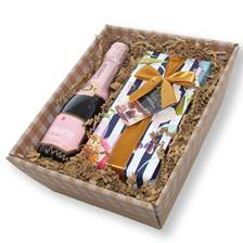 Buy & Send Mini Lanson Rose Champagne and Chocolates in a Tray