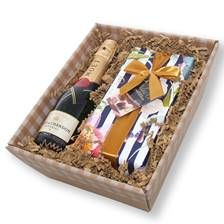 Buy & Send Mini Moet Brut Champagne and chocolates in tray