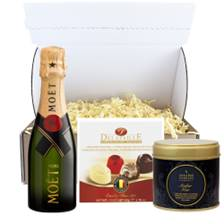 Buy & Send Mini Moet And Chandon But Champagne 20cl & Candle Gift Carton