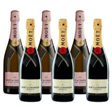 Buy & Send Mixed Case of Moet And Chandon Brut and Rose (6x75cl)